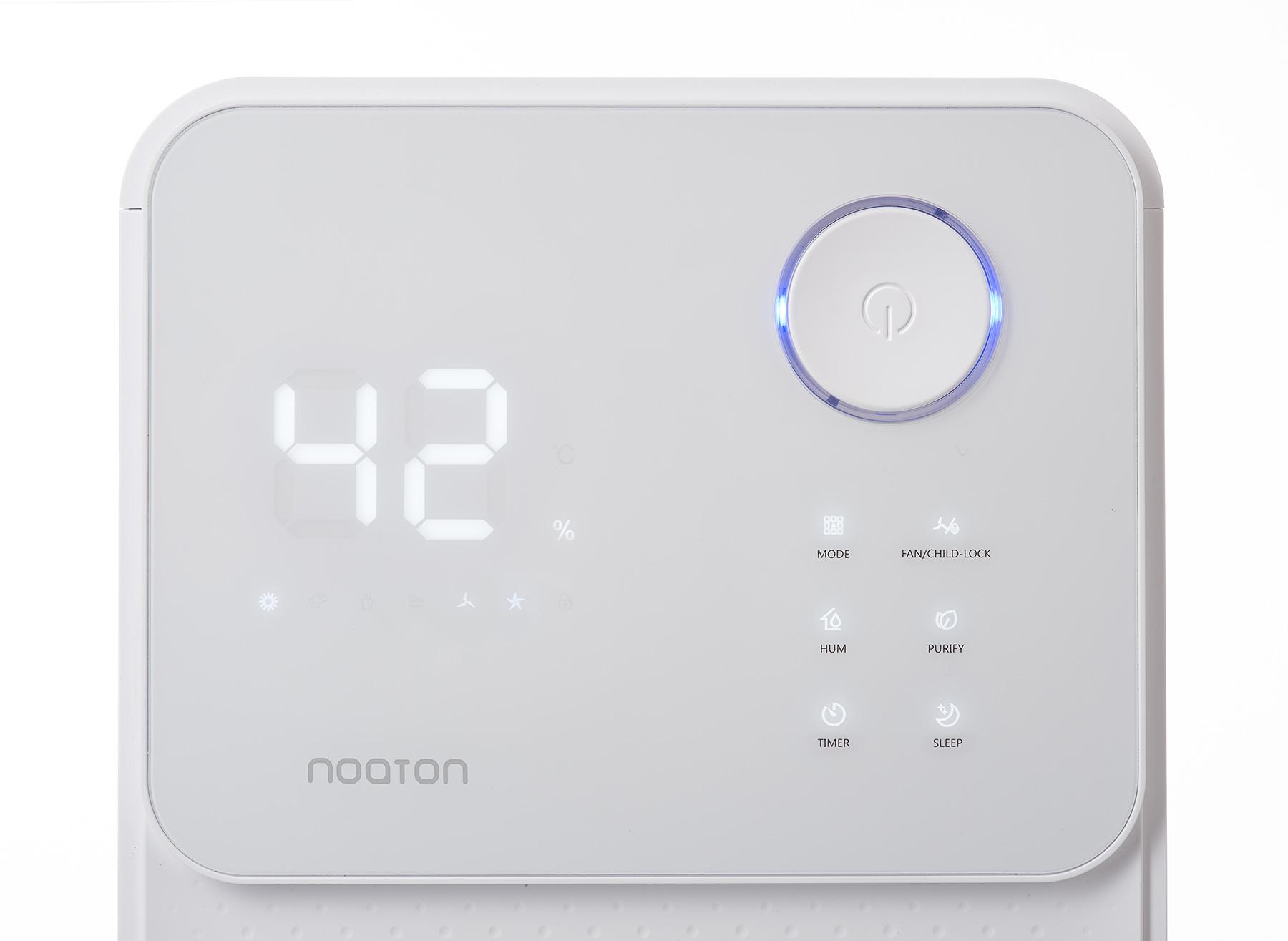 Luftentfeuchter & Luftreiniger Noaton DF 4114 - die Display